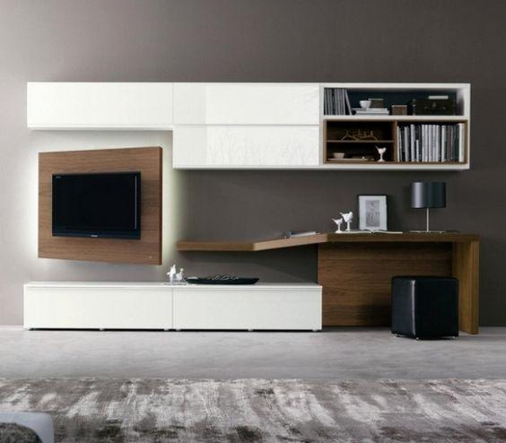 minimalistische Möbelsets für Wohnzimmer-Holzfronten weiß lackiert - h ngeschrank wohnzimmer wei