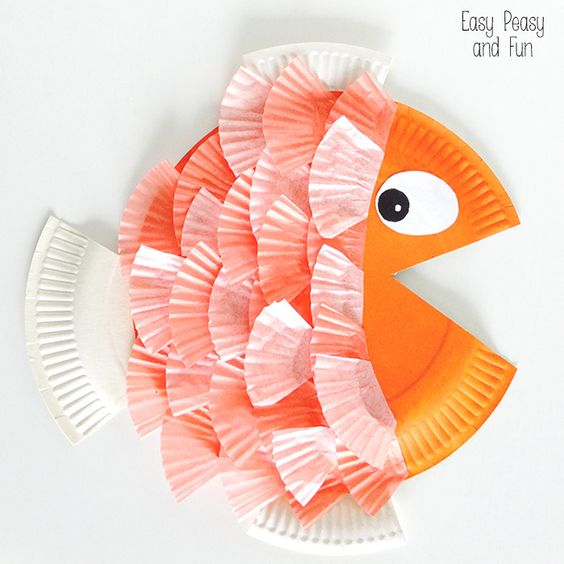 Cupcake liners fish and paper on pinterest for B liner fish