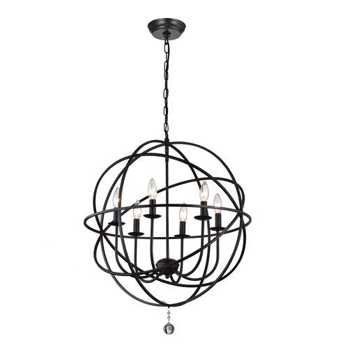 Eastbourne 6 Light Unique Statement Globe Chandelier Globe Chandelier Statement Chandeliers Chandelier