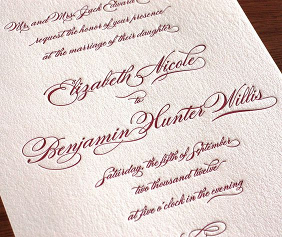 Wedding Invitation Fonts By Invitations By Ajalon  Wedding