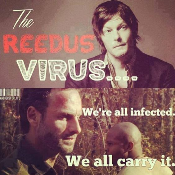 All infected with the Reedus virus. Daryl Dixon. Norman Reedus. Rick Grimes. T Dog. TWD. The Walking Dead.