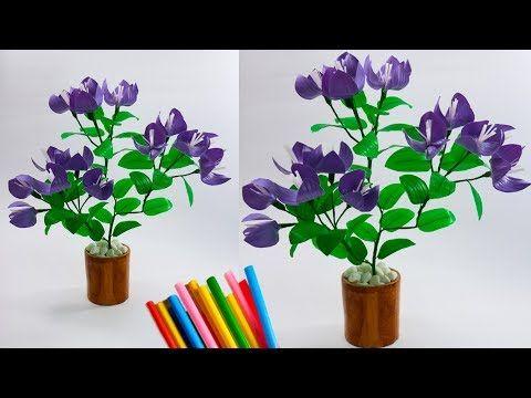 Cara Membuat Bunga Bougenvil Dari Sedotan Kreatif Beautiful