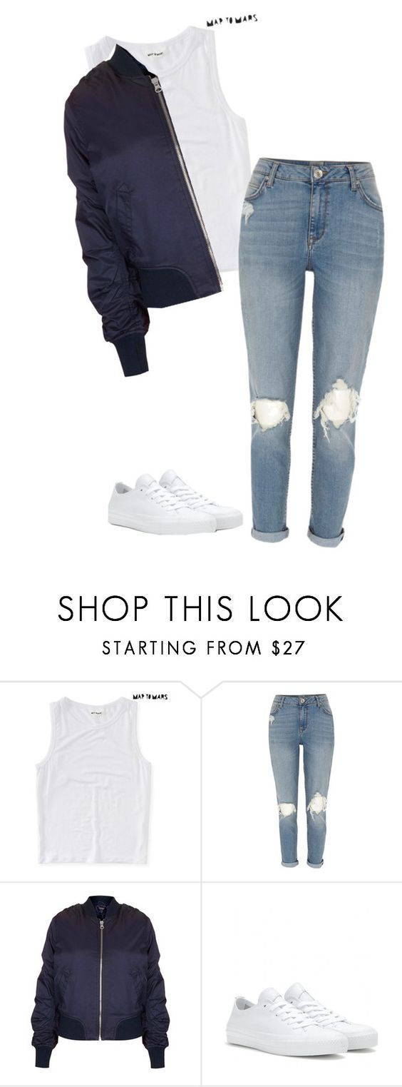 """""""Today's Trends: Bomber Jackets"""" by justddhaha ❤ liked on Polyvore featuring Aéropostale, River Island, Topshop and Converse"""