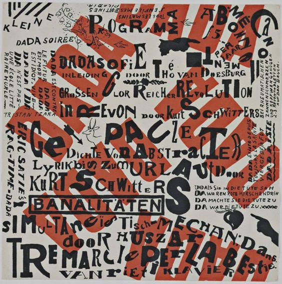Theo van Doesburg and Kurt Schwitters : Small Dada Evening (Kleine Dada Soirée), 1922.