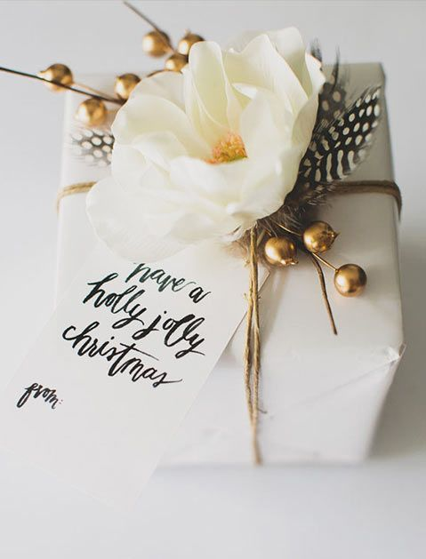 Gift Wrapping Ideas That Aren't the Same Old Boring Santa Paper  via @PureWow
