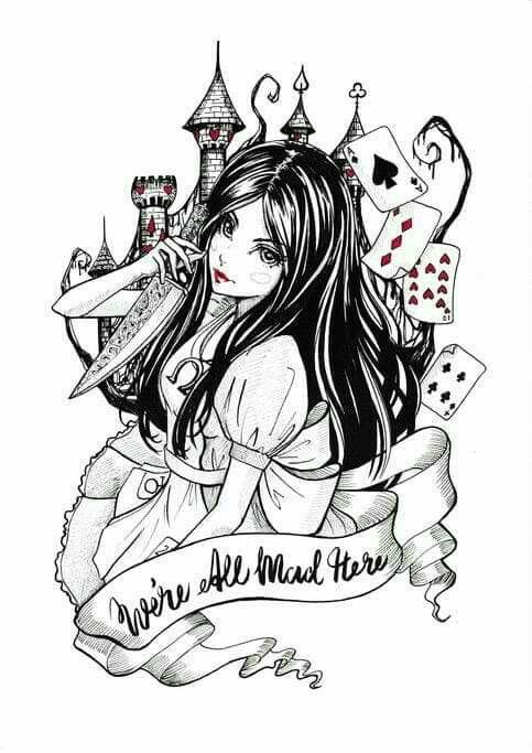 Pin By Summer Steele On Clip Art Dark Alice In Wonderland Alice