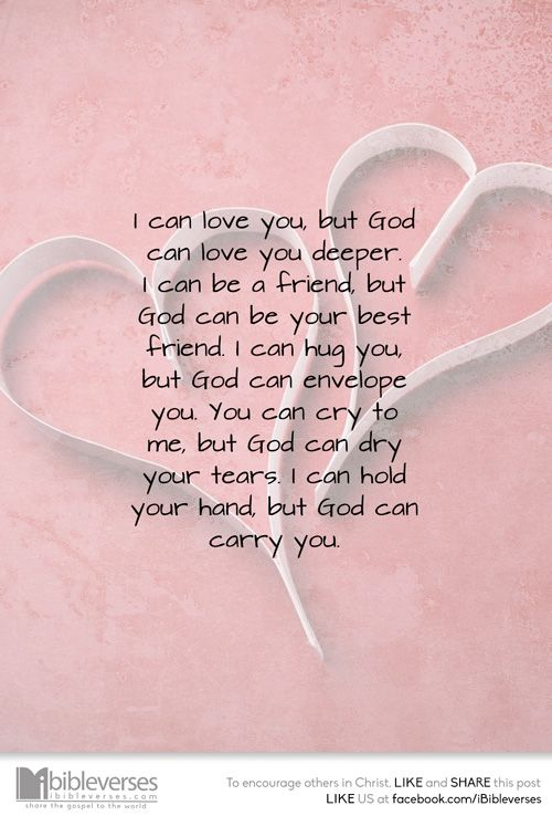 It's true, R ... God loves you more... I love you, too, with all my heart!: