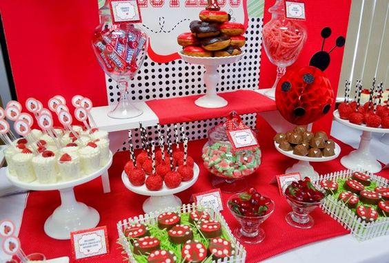 ideas-decoracion-cumpleanos-Ladybug-cubiertos
