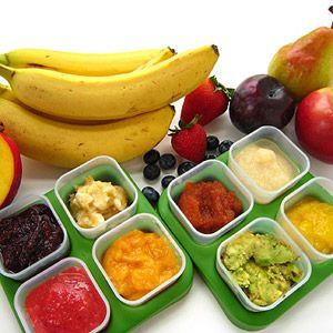 Homemade fruit purees