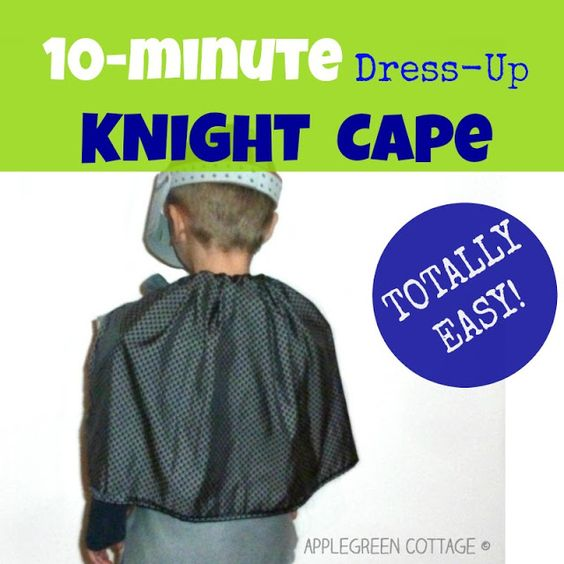 10-Minute DIY KIDS Knight Cape Last minute, Halloween costumes and