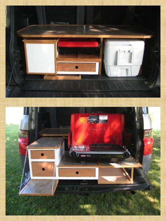 Kamp kitchen honda element camper van conversion for Campervan kitchen ideas