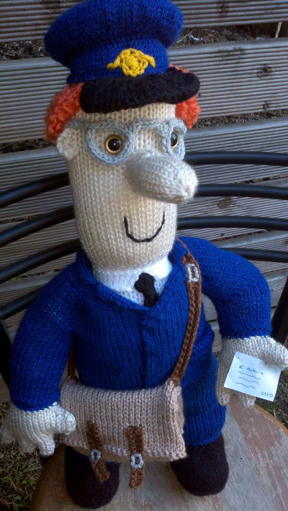 Easy Knitted Headband Free Pattern : Postman Pat Knitted Postman Pat Pinterest
