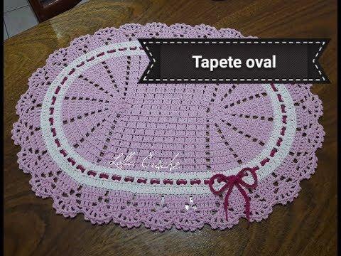 Tapete Oval Bico Russo De Croche Artes Da Desi Youtube Com