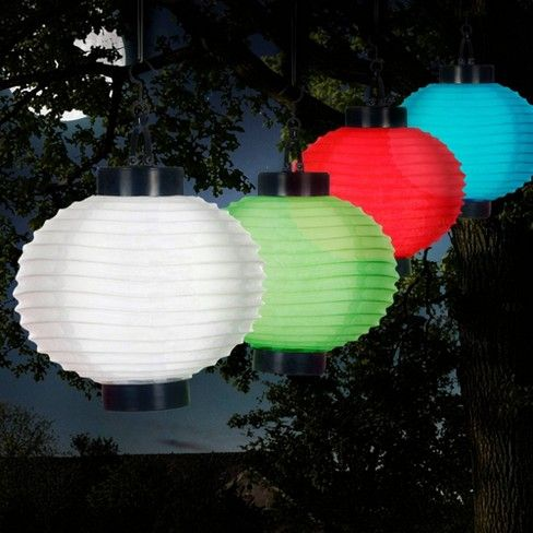4pk Chinese Solar Led Outdoor Hanging Lanterns Red Pure Garden Target Outdoor Hanging Lanterns Hanging Lanterns Solar Led