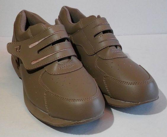 Propet Comfort Walking Shoes Double Strap Womens Sz 9.5 M Beige Diabetic #Propet #Oxfords #Casual