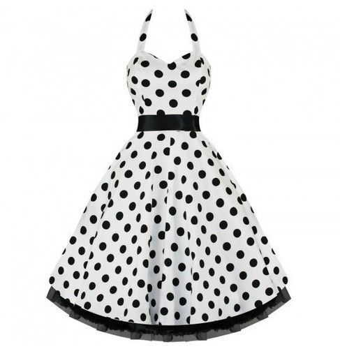 Vintage Style Pin Up Girl Polka Dot Dress S to XXXL. Starting at $1 on Tophatter.com!