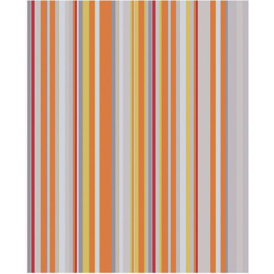 Cotton Stripe Wallpaper (¥2,255) ❤ liked on Polyvore featuring home, home decor, wallpaper, backgrounds, orange, stripe wallpaper, traditional home decor, orange wallpaper, traditional wallpaper and orange striped wallpaper