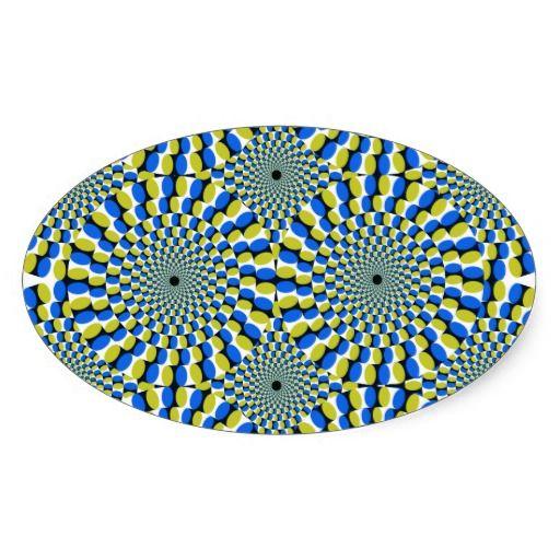 Bewegliche optische Täuschung Aufkleber  Optische