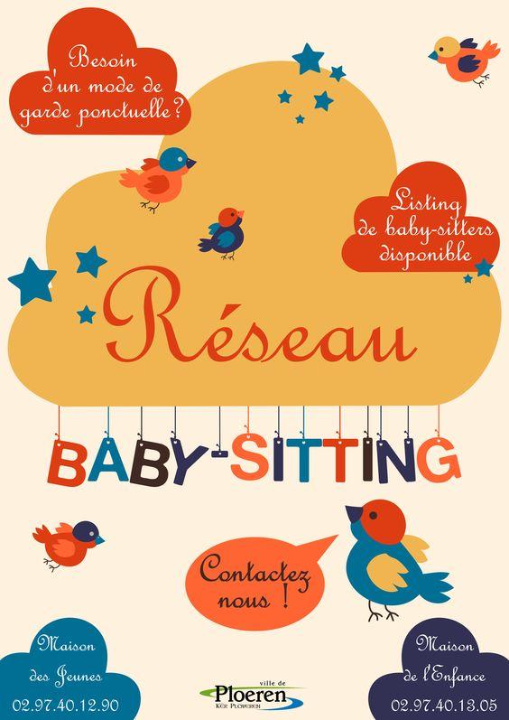 Affiche réseau baby-sitting - créée par Cilette