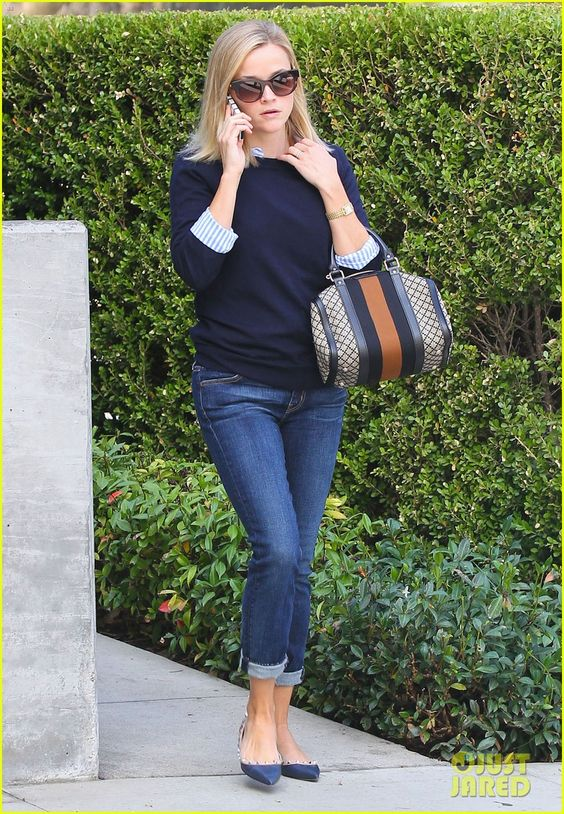 #Reese Witherspoon #Bag #Shoes #Casual #Style