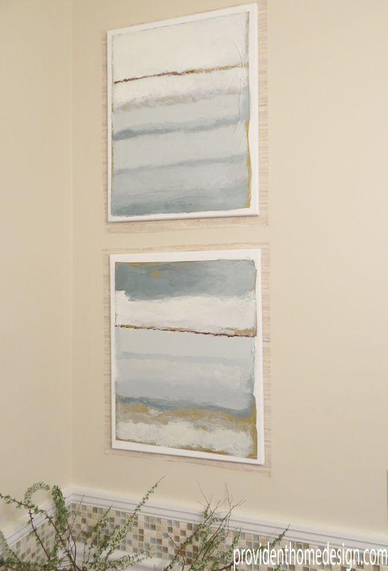 DIY Coastal Paintings - Ballard Designs Cote De La Mer knockoff