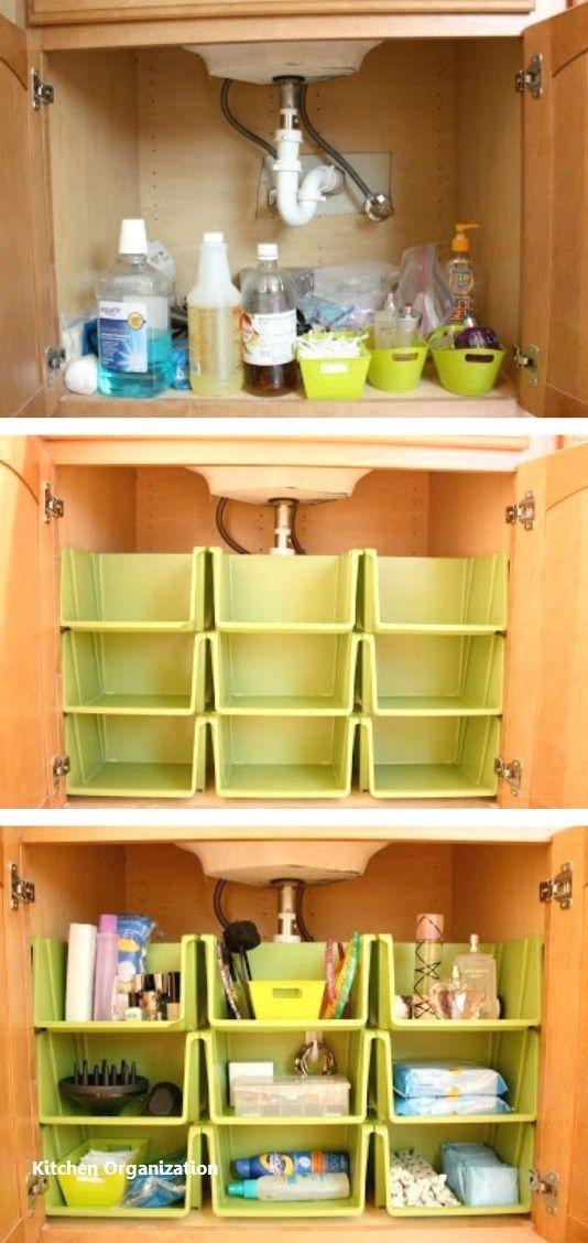 15 Creative Diy Storage And Organization Ideas For Small Kitchens 5 Kitchen Sink Organization Diy Kitchen Storage Home Organization