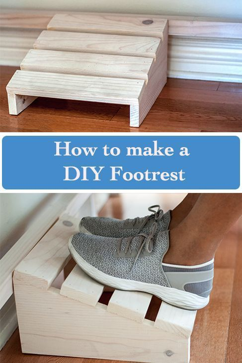 Easy Diy Footrest Using Scrap Wood Smallwoodprojects Woodworking Projects That Sell Beginner Woodworking Projects Wood Projects For Beginners