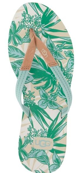 tropical floral print Ugg flip flops