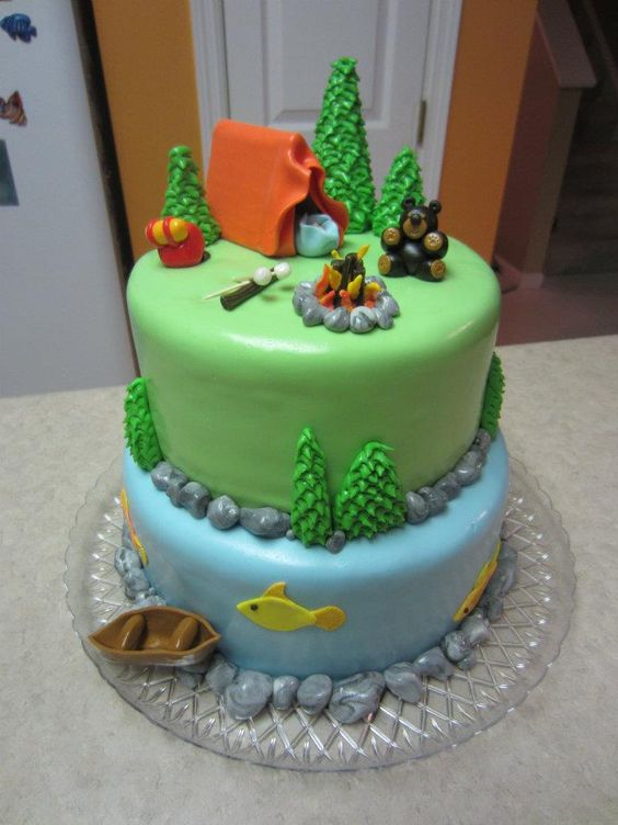 Cakes I've Made: Camping Theme Baby Shower: