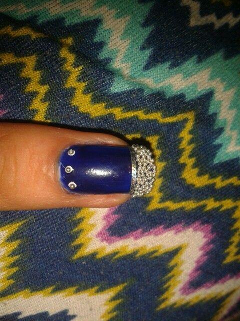 Fondo azul con francesita de caviar