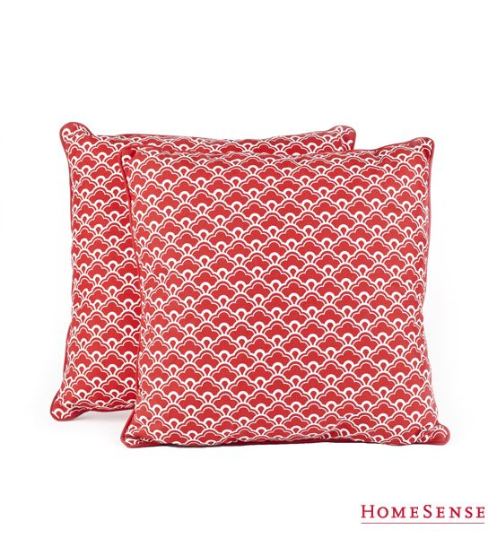 Outdoor Decorative Cushions perfect for Canada Day. www.HomeSense.ca Textiles and patterns ...