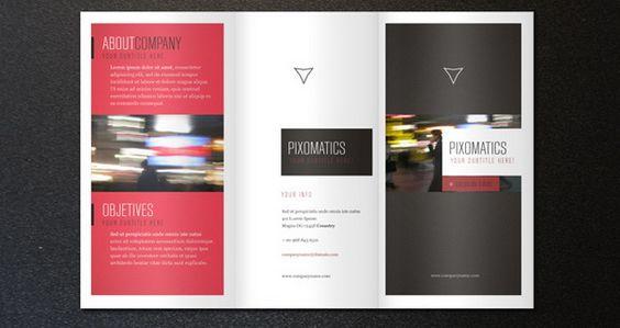 Brosur perusahaan untuk company profile 30 Contoh Desain Brosur - half fold brochure template