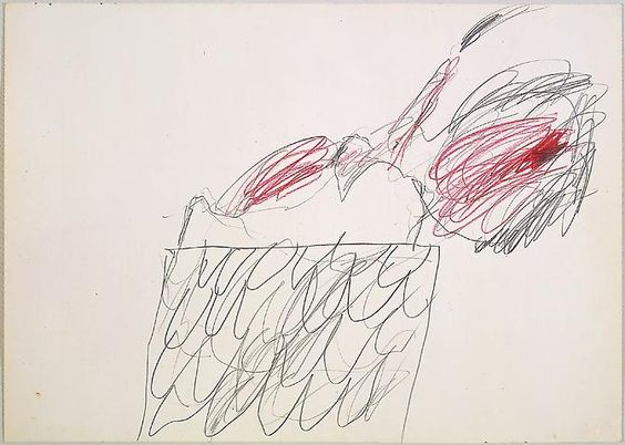 CY TWOMBLY  Untitled, 1972  Pencil and wax crayon on paper  19 3/4 x 27 5/8 inches (50.2 x 70.2 cm)