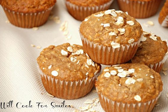 Muffins de canela miel avena - Cocinará para Smiles