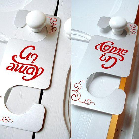 (6) Fancy - Come In/Go Away Door Hanger