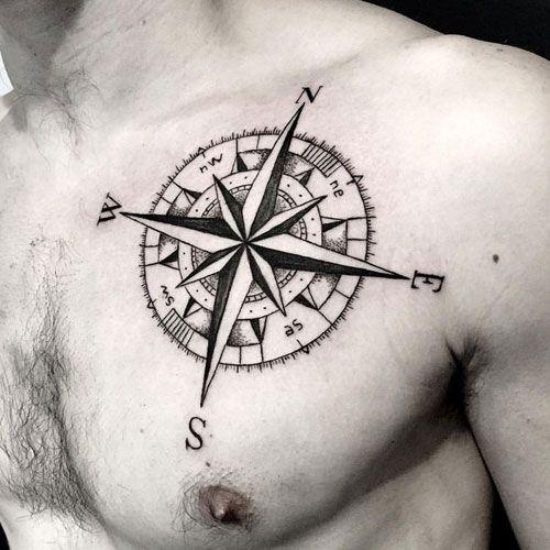 125 Best Compass Tattoos For Men Cool Design Ideas 2020 Geometric Compass Tattoo Compass Tattoo Men Compass Tattoo Design