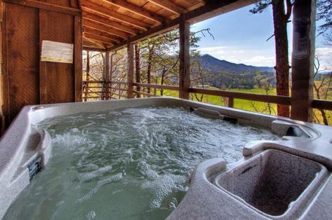 Hawkeye View 2 Bedroom Cabin In Sevierville Jacuzzi Hot Tub