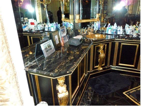 Black Stone Bath : bath vanities marble bathrooms vanities black marble gold bath black ...