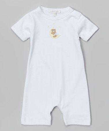 White Moon Bear Pima Romper - Infant by Victoria Kids Layette #zulily #zulilyfinds