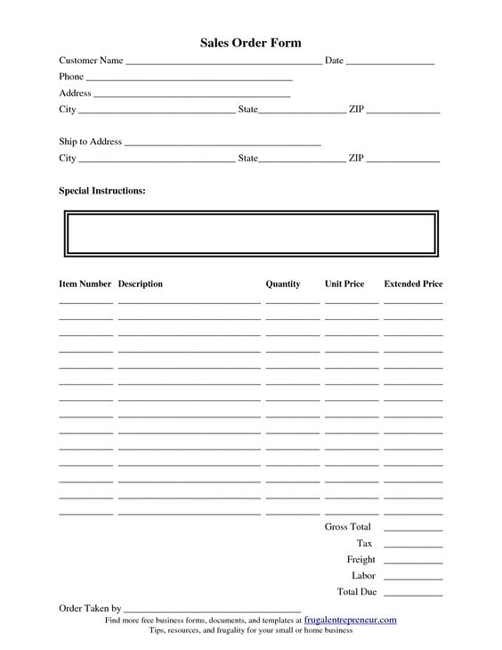 Purchase Order Form Template with Favorite Products List thumb 1 - scope of work template