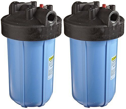 Pentek 150469 3 4 10 Big Blue Filter Housing Pack Of 2 Blue Filter Trash Can 10 Things