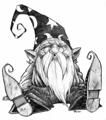 awesome gnomes drawing