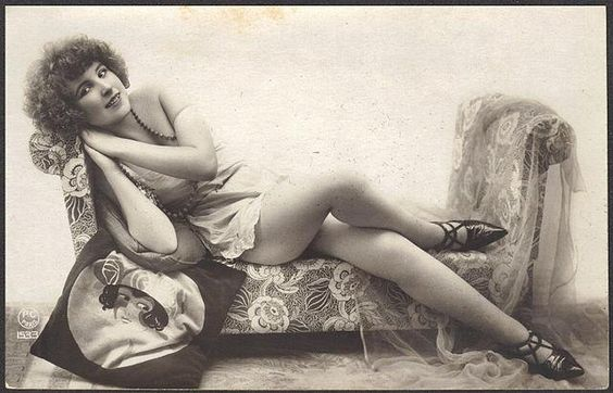 1920 Model with Flapper Pillow and Pointy Shoes