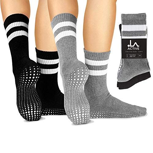 Yoga Pilates Barre Ballet Non Slip LA Active Grip Socks