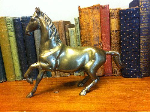 Old Brass Horse Stallion Sculpture/Statue. by AntiqueDecorStore, $21.00