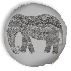 Elephant Pillow Silver now featured on Fab.