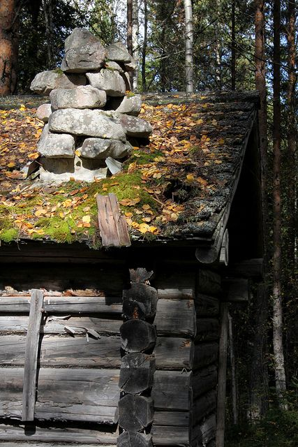 Ett litet hus i skogen, Sweden by Sara Hammarback  Cabins, cottages
