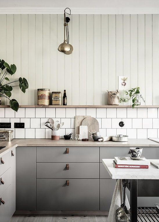 Cozy Kitchen With A Touch Of Green Cozy Kitchen Swedish Kitchen Kitchen Inspirations