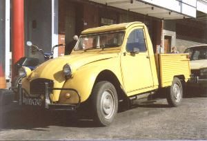 Citroën 3CV Citrovega (Built in Argentina, pickup which used rear panels based on those of the Mehari)