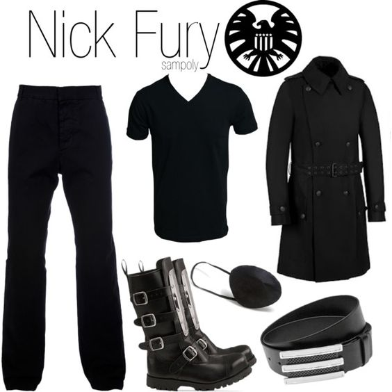 """Nick Fury (male)"" by sampoly on Polyvore:"